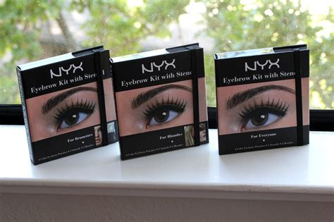 Nyx Eyebrow Kit With Stencil nyx eyebrow kit with stencil makeup and