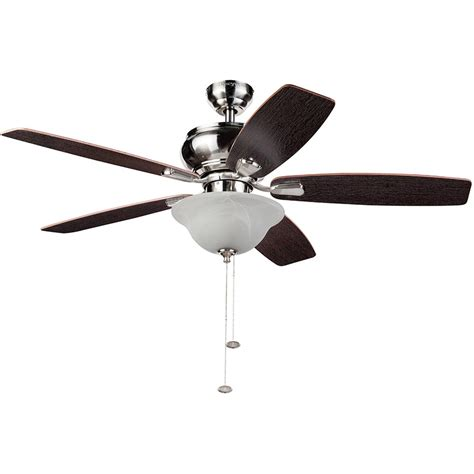 52 inch ceiling fan honeywell elston ceiling fan with led lights satin nickel