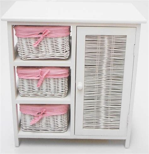 white cabinet with baskets furniture wicker storage basket ideas to make your room
