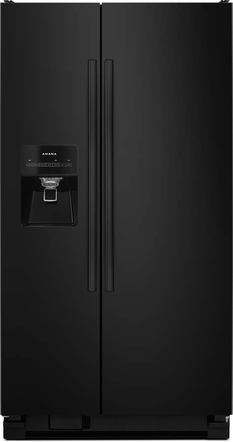 Freezer Mini Asi amana asi2575frb 36 inch side by side refrigerator with 24 5 cu ft capacity adjustable