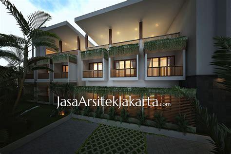 desain rumah homestay desain homestay 25 kamar pak benny jasa arsitek jakarta