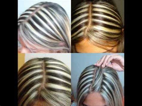 como hacer highliths en el cabello como fazer mechas em casa youtube