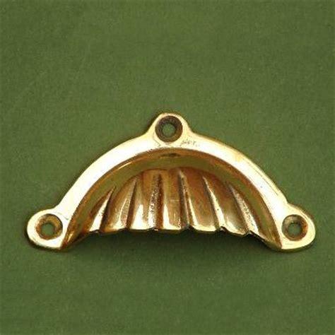 brass shell drawer pulls