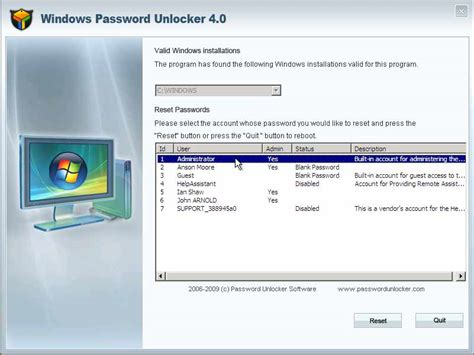 reset windows password locked out download acd systems black screen software screen view