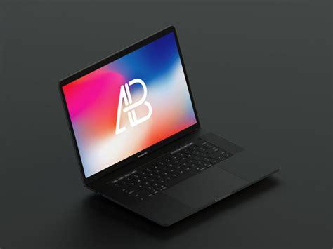 Macbook Black floating matte black macbook pro mockup mockupworld