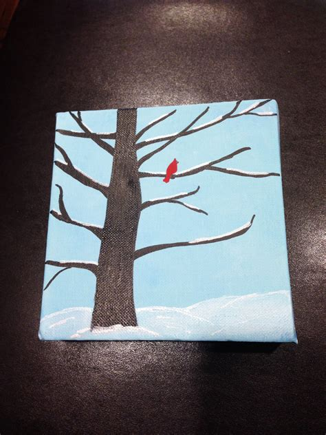 Simple winter paintings enchanted entirely