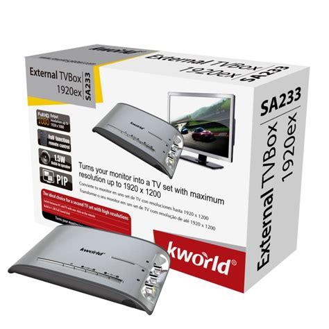 Tv Tuner K World 303u kworld sa233 external tvbox 1920ex it shop bg