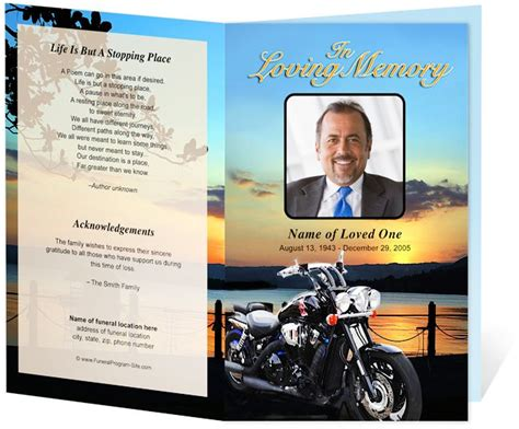 17 Best Images About Creative Memorials With Funeral Program Templates On Pinterest Program Sports Program Template Microsoft Word