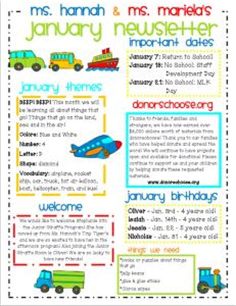 Special Education Newsletter Template Preschool Newsletter Template The Crafty Teacher Newsletter Templates Pinterest In The