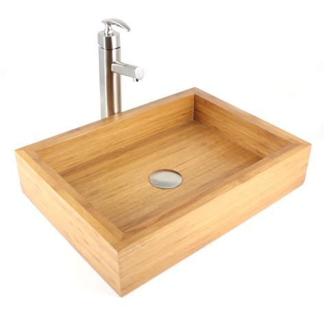 irenic bamboo countertop bathroom lavatory vessel sink