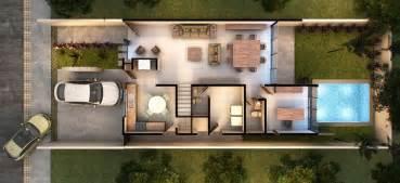 Vista Del Sol Floor Plans plano de casa moderna de dos pisos con cochera doble