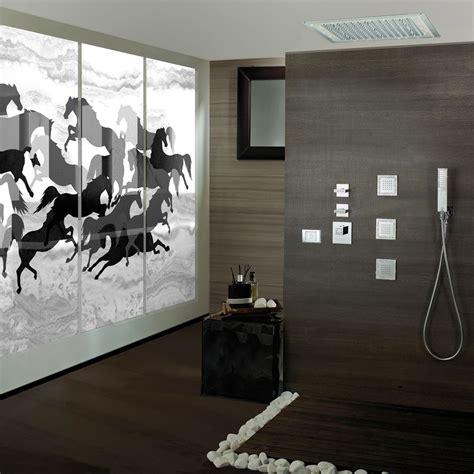 soffione doccia con led bossini soffione doccia con led e decori in swarovski