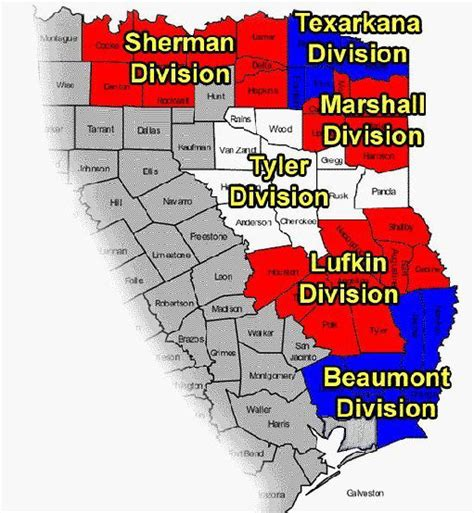 eastern texas map district info usao edtx department of justice