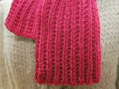 ribbed knitted scarf pattern free seeded rib scarf loop knits