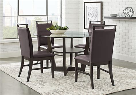 8 pc dining room set best dining room furniture sets ciara espresso dark brown 5 pc dining set glass top
