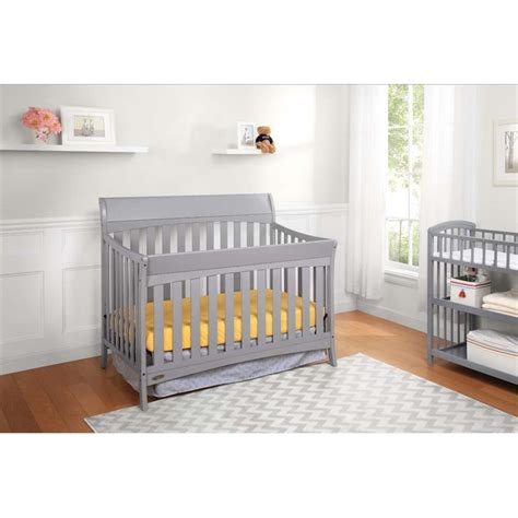 Graco Rory Convertible Crib Graco Rory 5 In 1 Convertible Crib In Pebble Gray 04540 46f