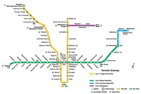 subway system map toronto subway system info interactive ttc subway map