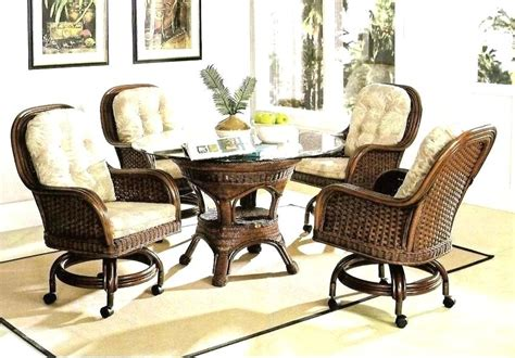 Dining Room Sets With Caster Chairs Wonderful Wheeled Dining Chair Best Leather Chairs On Dinette Chairs With Casters Caster Arm