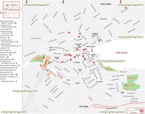 printable tourist map zurich maps update 7001093 zurich tourist map 14 toprated