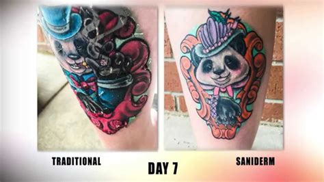 tattoo care day 7 the saniderm tattoo aftercare challenge youtube
