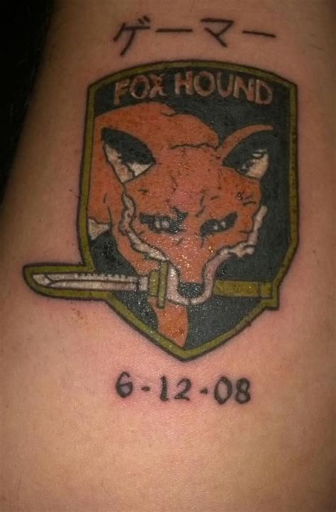 foxhound tattoo my foxhound on my left arm s i or