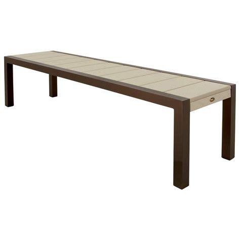 aluminium benches hton bay legacy aluminum patio bench c526 62 the home