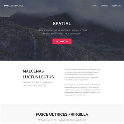 simple html5 template templated free css html5 and responsive site templates