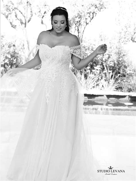 Curvy bride can be a princess in a plus size bridal gown from #studiolevana . | Princess wedding