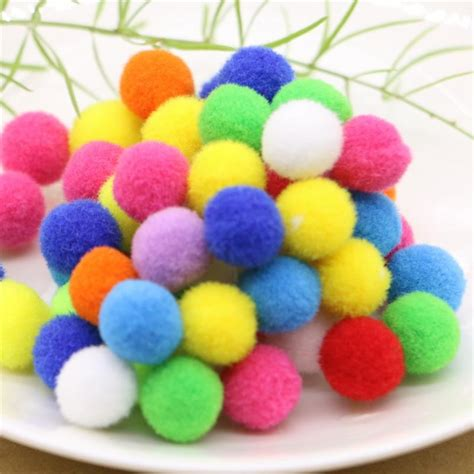 colored cotton balls color small floss cotton hair hanging