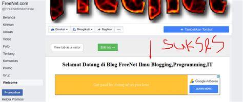 adsense di facebook freenet