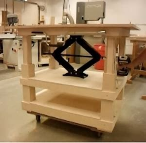 Homemade Adjustable Height Table Homemadetools Net Build Your Own Adjustable Height Desk