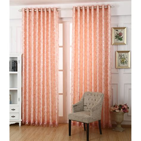 beautiful bedroom curtains pink floral embroidery polyester insulated beautiful