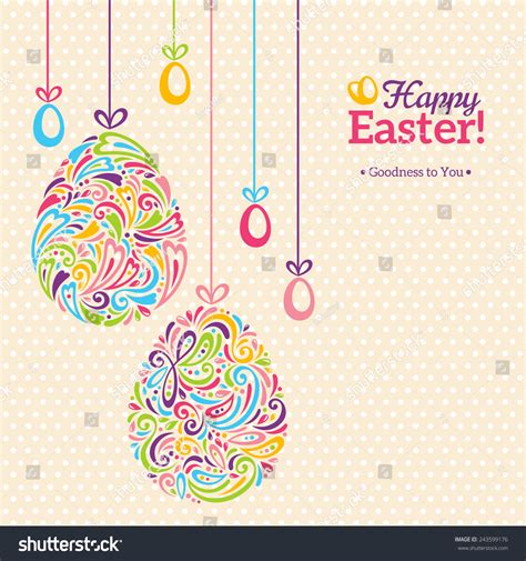 Easter Egg Place Card Template by Easter Eggs In Doodle Minimalism Style With Place For Your