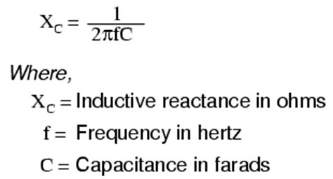 capacitor reactance equation lessons in electric circuits volume v reference chapter 1