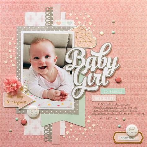 scrapbook layout baby girl 646 best images about baby girl scrapbook page layouts on
