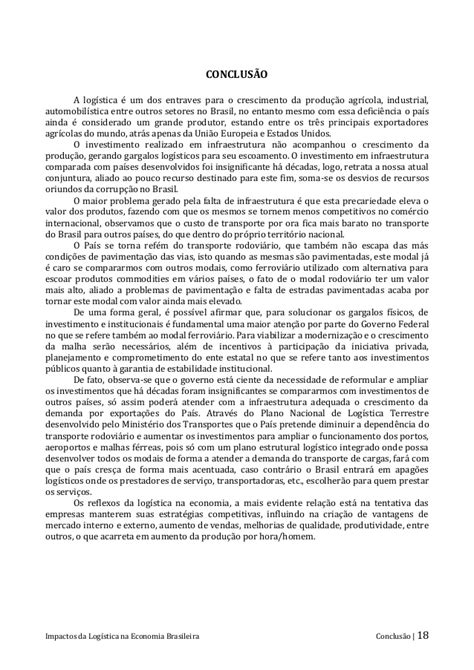Impactos da Logística na Economia Brasileira