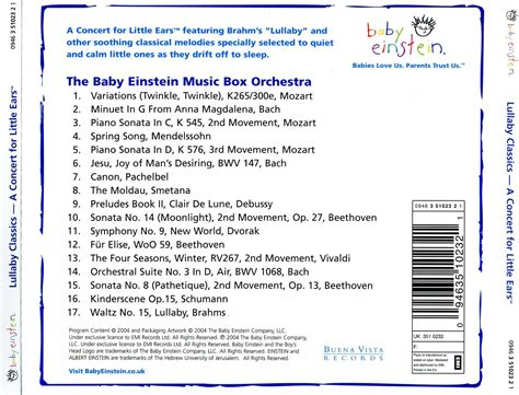 Cd Va Classical Baby The For New Mums And Babies various artists baby einstein lullaby classics 2004 avaxhome