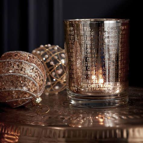 gold merry christmas candle holder   christmas home notonthehighstreetcom