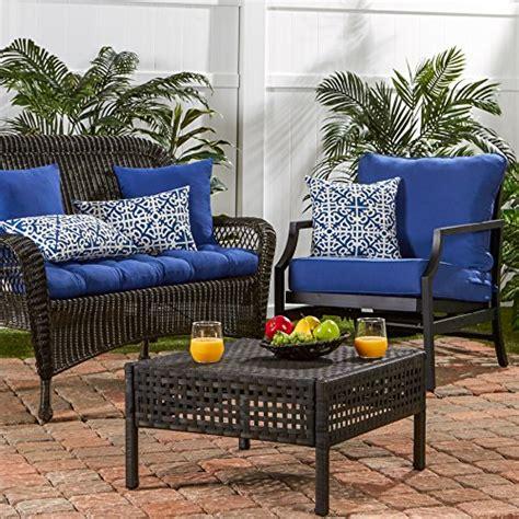 44 bench cushion greendale home fashions 44 inch indoor outdoor swing bench cushion marine blue ebay