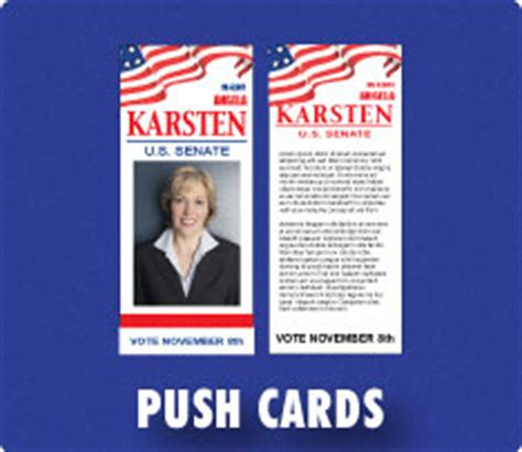 push card template political caign buttons