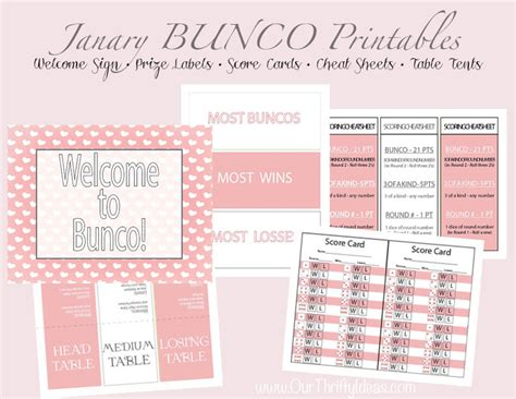 bunco score card templates valentines bunco printable pack our thrifty ideas