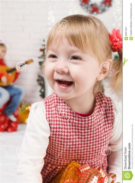new year baby song baby beside tree stock photo image 63911947