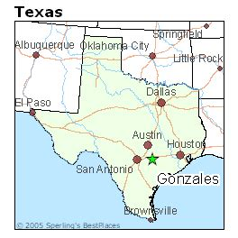 gonzales county map best places to live in gonzales