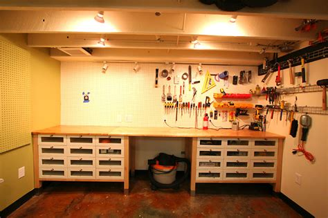 Ikea Garage Hacks | ikea hack using kitchen cabinets and counter tops in the