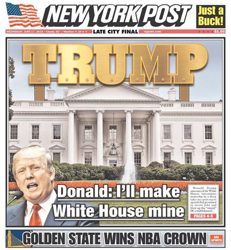 will donald trump cover the white house in gold marketwatch newspapers react to donald trump s caign for president