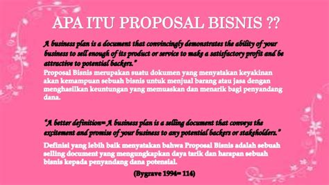 membuat proposal bisnis untuk investor proposal bisnis ppt