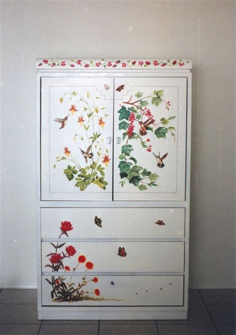 Decorative Wardrobes by Armoire Decorative Painting Armoires And Wardrobes Other Metro By Painted Tile Murals