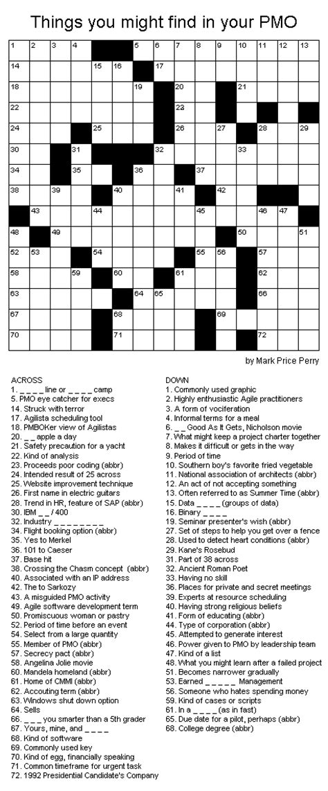 usa today crossword june 18 projectmanagement com pmo crossword puzzle things you