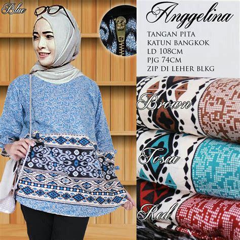 Blouse Lengan Pita Terompet baju blouse atasan fashion wanita lengan panjang modis