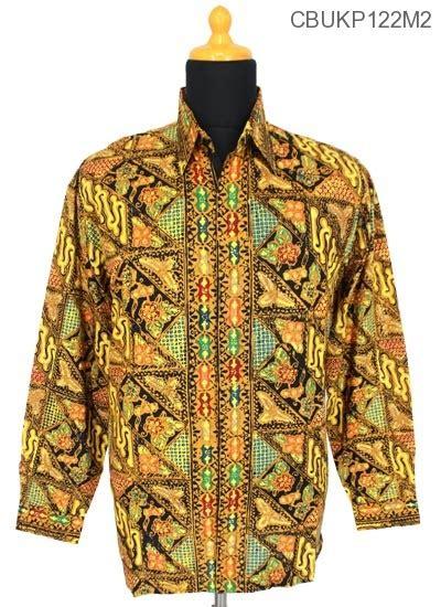Kemeja M2 kemeja batik motif sarpa tumpal kemeja lengan panjang murah batikunik